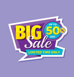 big sale concept banner promotion poster discoun vector image
