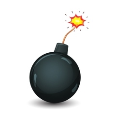 bomb isolated on a white background vector image