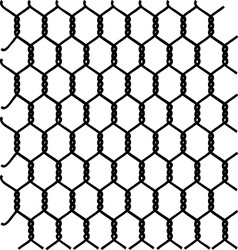 braided galvanized wire vector image