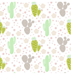 Cactus desert seamless pattern green and vector