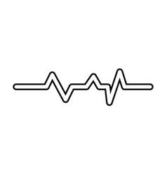 Cardio lifeline icon vector