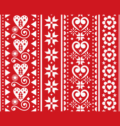christmas seamless vertical pattern vector image