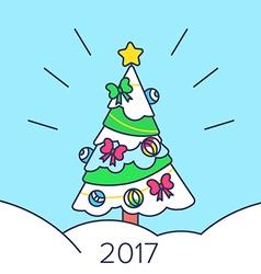 Christmas tree and snow vector