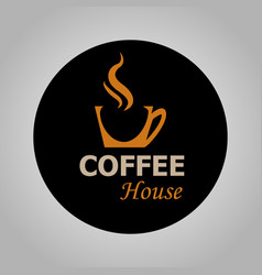 Coffee house logotype vector