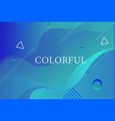 colorful geometric background with cute elements vector image