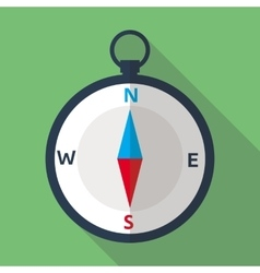 Compass Flat Icon vector image