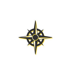 Compass rose symbol europe protection cartography vector