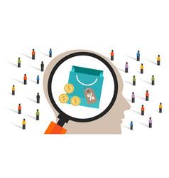 consumer behavior predicting customer buyer vector image