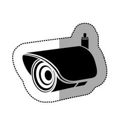 Contour exterior video camera icon vector