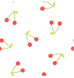 Cute cherry background vector