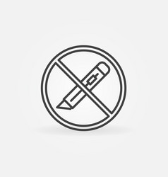 Do not use paper cutter thin line concept vector