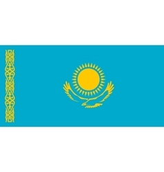 Flag of Kazakhstan in correct size colors vector image