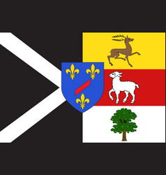 Flag of rambouillet in yvelines in ile-de-france vector