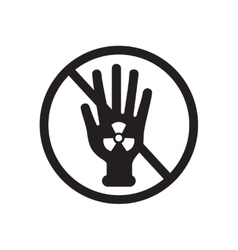 Flat icon in black and white radioactivity vector