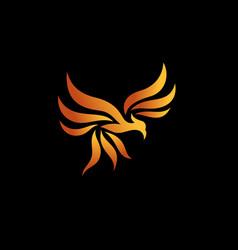 Flying phoenix logo vector