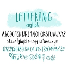Funny alphabet for lettering vector image