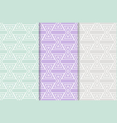 Geometric background triangle seamless pattern vector