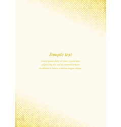 Golden page corner design template vector image vector image