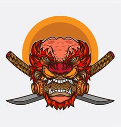 guardian lions logo design vector image