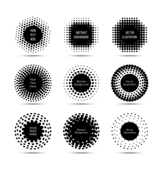 Halftone round design elements Circle pop vector image