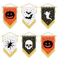 Halloween pennants vector