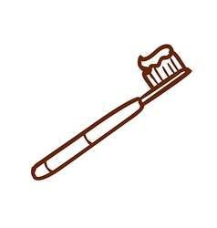 Hand Drawn Tooth Brush vector
