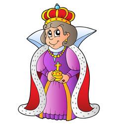 Happy queen vector