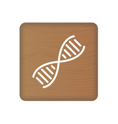 human dna genetics icon on wooden blocks isolated vector image