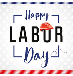 Labor day card usa stars vector