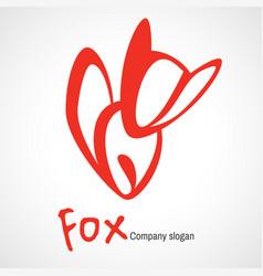 logo with orange fox vector image