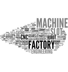 Machine word cloud concept vector
