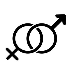 male and female symbols solid icon gender sign vector image