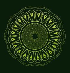 Mandala classic mystical ornament green background vector