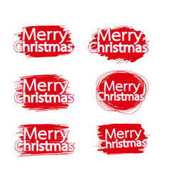 merry christmas text lettering design vector image