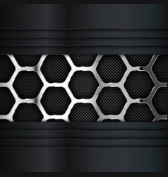 Metal background hexagonal pattern vector
