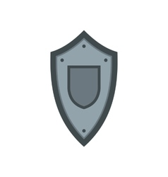 Metal medieval shield icon flat style vector image
