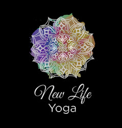 New life yoga vector