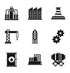 Oil production icons set simple style vector
