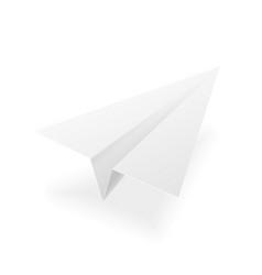 paper plane realistic 3d mockup white vector image