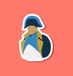 paper sticker on stylish background napoleon vector image