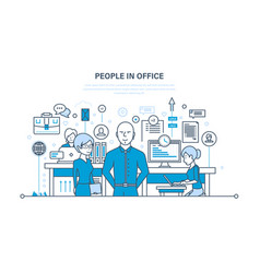 people in office teamwork partners colleague vector image