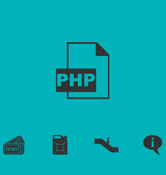 Php file icon flat vector