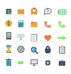 Pixel icons vector image
