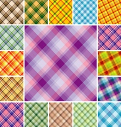 Plaid patterns vector