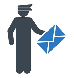 Postman icon from Business Bicolor Set vector image
