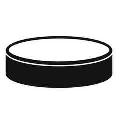 Puck icon simple style vector