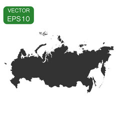 Russia map icon business cartography concept vector