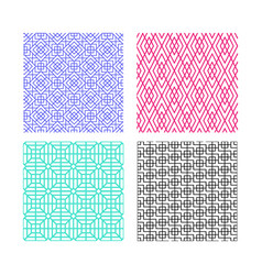 seamless linear pattern in modern korean style vector image