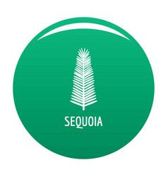 sequoia leaf icon green vector image