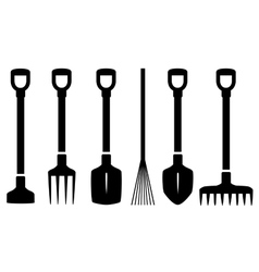 set isolated garden tools vector image